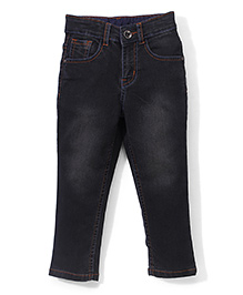 Babyhug Full Length Basic Jeans -  Black