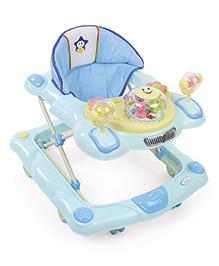 Musical Baby Walker With Play Tray - Sky Blue
