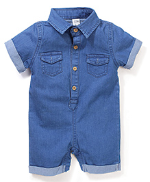 Little Denim Store Dungaree With 2 Front Pocket - Navy Blue