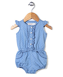 Little Denim Store Dot Print Onesie - Blue