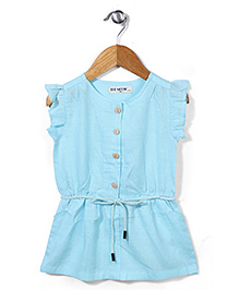 Miss Pretty Dress With Front Buttons - Blue