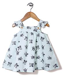 Miss Pretty Flower Print Dress - Blue