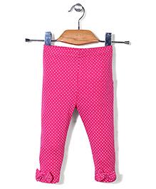 Candy Hearts Polka Dot Leggings - Pink