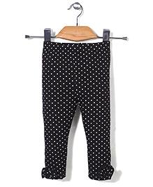 Candy Hearts Polka Dot Leggings - Black