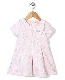 Miss Pretty  Half Sleeves Dress - Pink