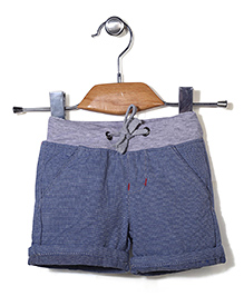 Poly Kids Striped Shorts - Blue