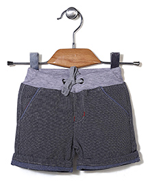 Poly Kids Striped Shorts - Grey