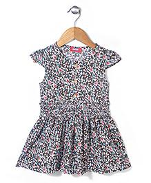 Miss Pretty Floral Print Dress - Multicolour