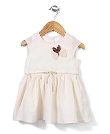 Miss Pretty Bow Print Dress - Off White