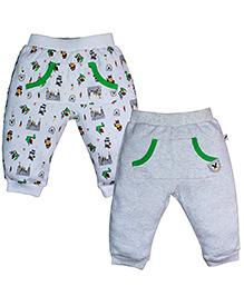 FS Mini Klub Full Length Track Pants Set Of 2 - Grey
