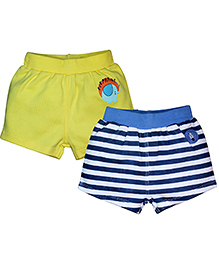 FS Mini Klub Shorts Set Of 2 - Yellow Blue