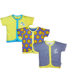 FS Mini Klub Short Sleeves Vests Set of 3 - Multicolour