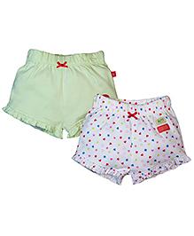 FS Mini Klub Shorts Set of 2 - Light Green White
