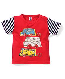 Poly Kids Ice Cream Print T-Shirt - Red