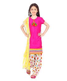 Kids Chakra Stunning Kurta Patiala Set - Pink