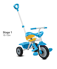 Smartrike Tricycle With Push Handle - Blue White
