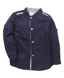 Kidsplanet Solid Pattern Stylish Shirt - Navy Blue