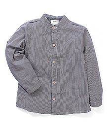 Kidsplanet Solid Pattern Stylish Shirt - Grey
