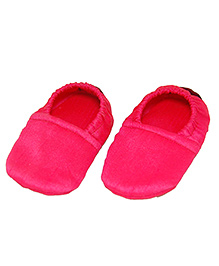 SnugOns Cotton Booties - Red & Pink