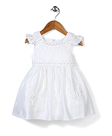 Beautiful Girl Lovely Party Dress - White