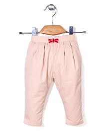 Kidsplanet Solid Pattern Stylish Pant - Cream