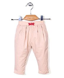 Kidsplanet Solid Pattern Stylish Pant - Cream