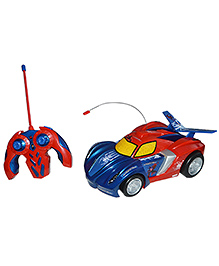 Spiderman Remote Control Web Racer Car Toy - Red And Blue