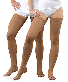 Aaram Class 2 Stocking Above Knee Small - Brown