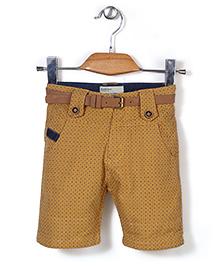 Quick Seven Dot Printed Pants - Brown