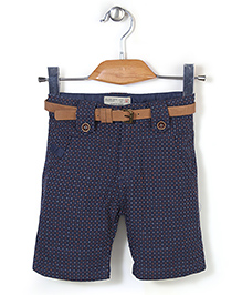 Quick Seven Dot Printed Pants - Blue
