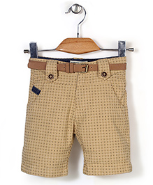 Quick Seven Dot Printed Pants - Beige