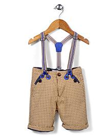 Quick Seven Shorts With Suspenders - Beige