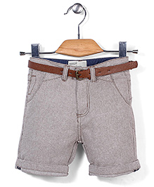 Quick Seven Shorts With Belt - Grey