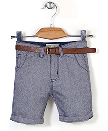 Quick Seven Shorts With Belt - Light Blue