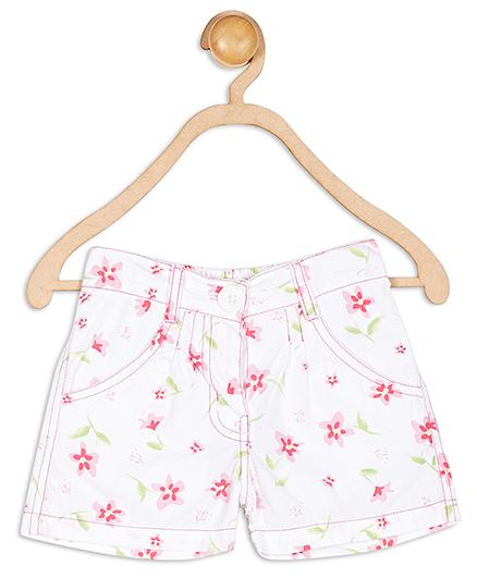 Baby League Floral Print Shorts - White