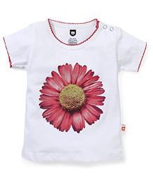 Baby League Floral Print Cotton Top - White
