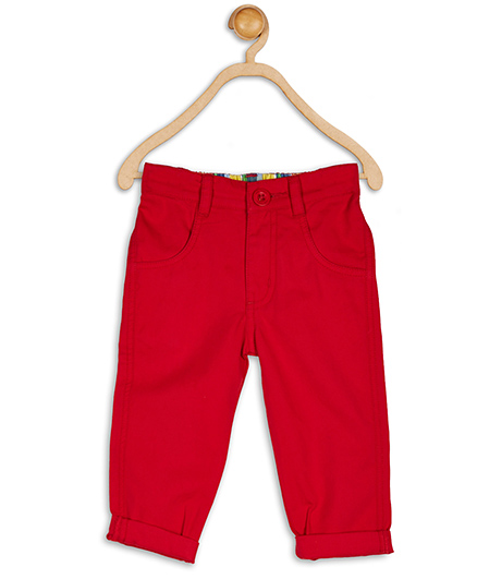 Baby League Twill Trouser Basic - Red