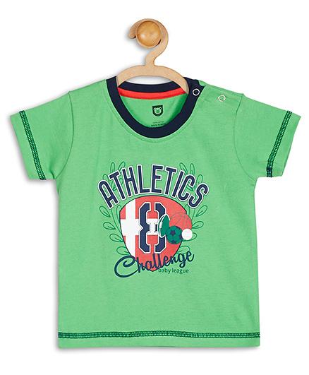 Baby League Half Sleeves T-Shirt Athletics Print - Green