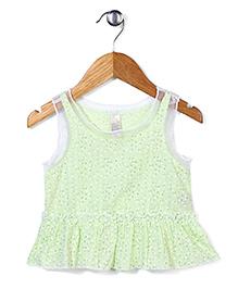 Miss Pretty Attractive & Trendy Top - Light Green