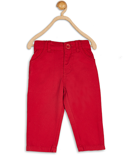 Baby League Full Length Twill Pants - Red