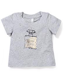 Miss Pretty Philtre D Amoour Print T-Shirt - Grey