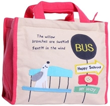 Kids Bag - Happy School Bus Stop Print
