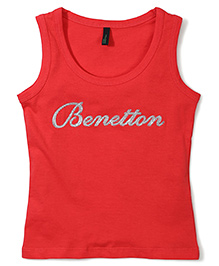 UCB Sleeveless Top Benetton Print - Red