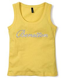UCB Sleeveless Top Benetton Print - Yellow