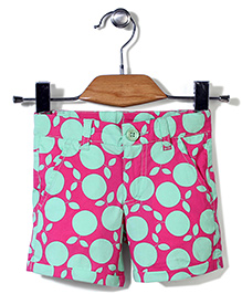 UCB Shorts Fruit Print - Fuchsia