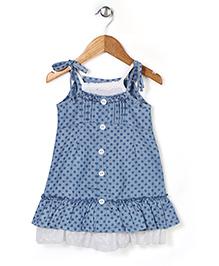 Miss Pretty Polka Dots Dress - Blue