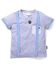Poly Kids Smart & Trendy Tee - Grey