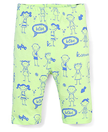 Candy Hearts Stylish Leggings - Light Green