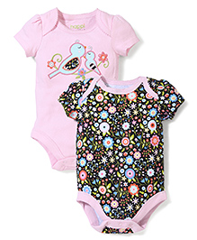 Happi by Dena Stylish & Attractive Onesie - Pink & Multicolour