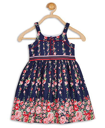 little muffet sleeveless blue bird dress navy blue and yellow best deals with price comparison. Black Bedroom Furniture Sets. Home Design Ideas
